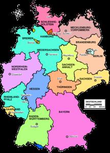 Karta njemačkih regija